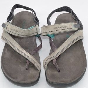 Merrell Drizzle Thong Sandals Grey Size 9